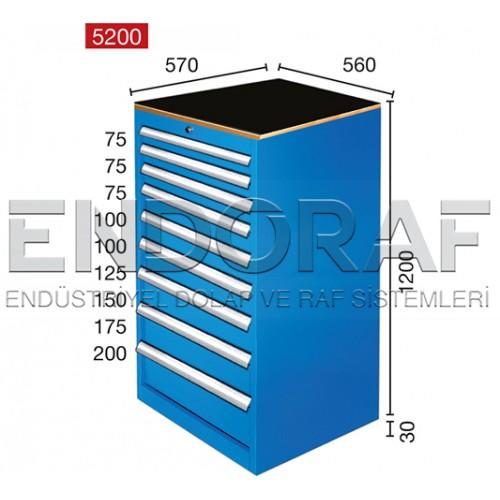 9 ÇEKMECELİ DOLAP 5200