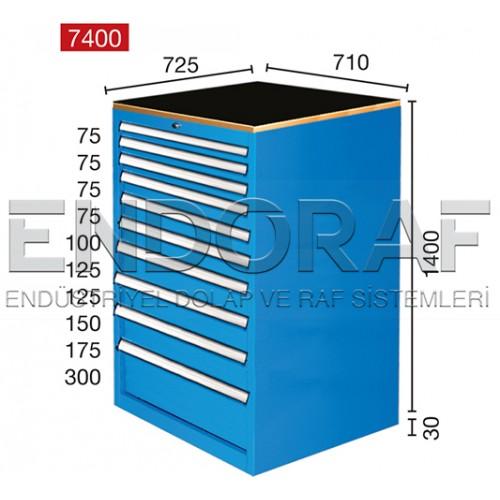 10 ÇEKMECELİ DOLAP 7400